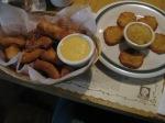 Pretzel Nuggets and Potato Pancakes und Apple Sauce