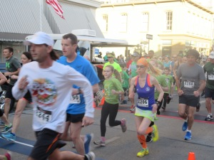 Me at the start of The Good Shepherd Run For The Gold 3K – Frankfort, Kentucky