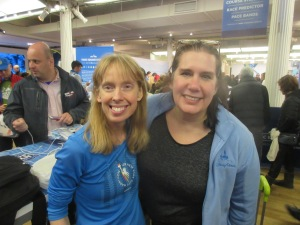 Me and my awesome friend Ellen at the United Airlines NYC Half Marathon Experience