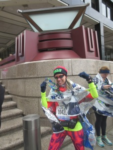 Me after finishing the United Airlines NYC Half Marathon - New York, New York