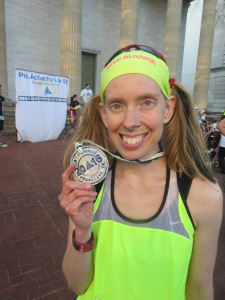 Me with my first place age division award at the Pro.Active For Life 5K - Frankfort, Kentucky