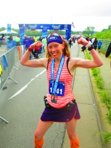Me after finishing the Geist Half Marathon - Fishers, IN