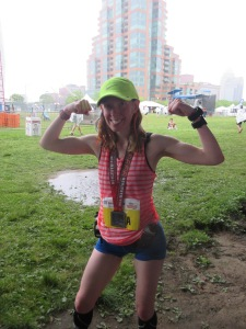 Kentucky Derby Festival Mini Marathon...DONE! I was soaked...but so happy with the way things turned out.