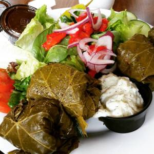 Taziki's Gluten Free Dolmades Plate (Stuffed Grape Leaves)