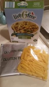 Aldi liveGfree Gluten Free Penne Pesto Pasta Meal