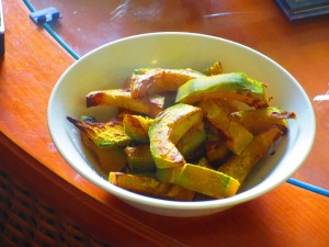 Oven roasted Kabocha Squash...cooked up by me...as part of the pre-race dinner.