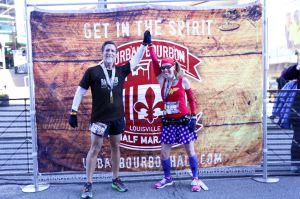 Matthew and I just after finishing the Urban Bourbon Half Marathon - Louisville, KY