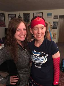 Kat and I the morning of the Urban Bourbon Half Marathon. Next time she's in town, we are so racing together!