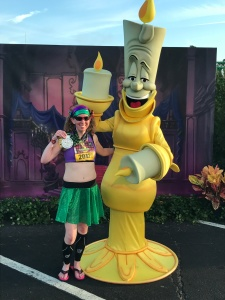 I completed the Lumiere's Challenge for the Disney Wine & Dine Half Marathon weekend...I was NOT missing my chance to take a photo with Lumiere at the end.