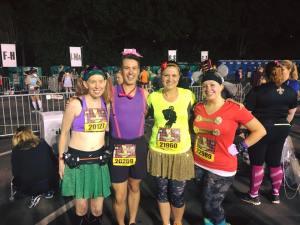 Me, Richie, Stephanie, and Melissa...representing the #KDFMarathon Race Ambassadors at Disney!!