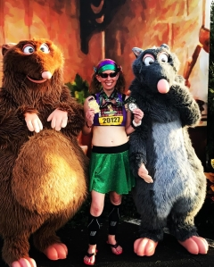 Me after finishing the Disney Wine & Dine Half Marathon and completing the Lumiere's Challenge - Disney World - Orlando, FL