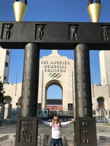 Me in front of the Los Angeles Memorial Coliseum