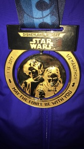 Disneyland Star Wars Light Side Half Marathon Finishers Medal
