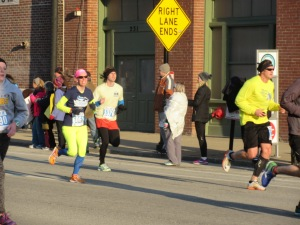 Me heading into the finish line of the Anthem 5K Fitness Classic - Louisville, Kentucky