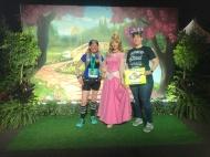 Post-10K race with Sleeping Beauty