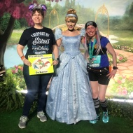 Post 10K race with Cinderella